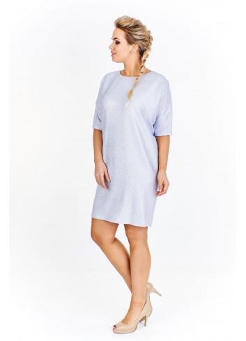 Sukienka z błyszczącym nadrukiem
