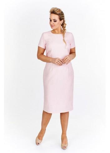 Koktajlowa sukienka w strukturalny wzór Plus Size