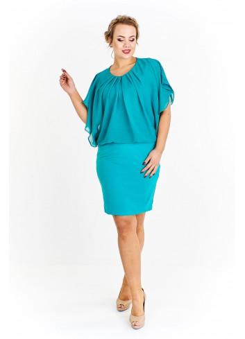 Sukienka koktajlowa typu motyl Plus Size