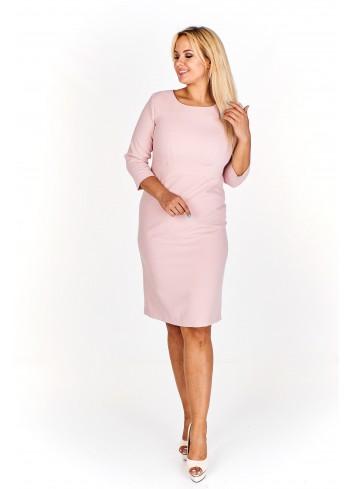 Klasyczna monochromatyczna sukienka Plus Size