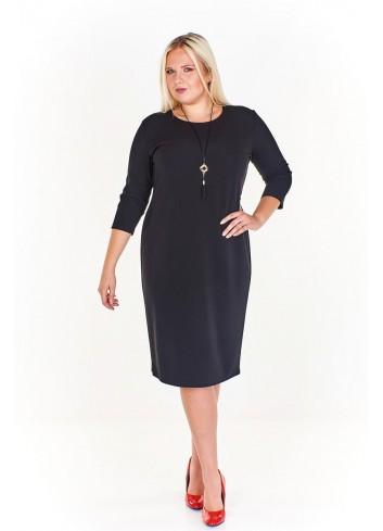 Pudełkowa sukienka z rękawem 3/4 Plus Size
