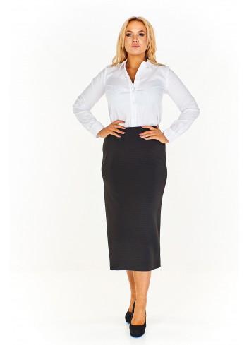 Długa ołówkowa spódnica Plus Size