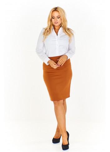 Ołówkowa monochromatyczna spódnica Plus Size