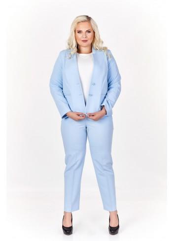 Codzienne spodnie o prostym kroju Plus Size