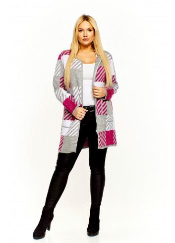 Sweter zapinany na ekspres Plus Size