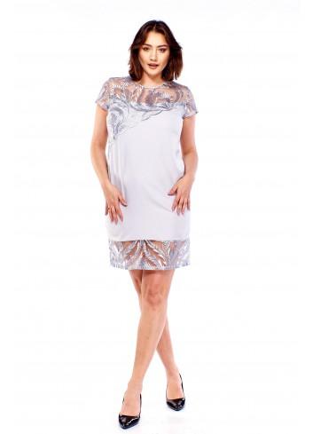 Elegancka sukienka z koronką Plus Size