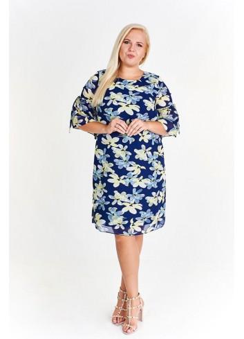 Modna sukienka w kwiatowy wzór Plus Size
