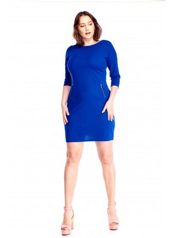 Ołówkowa sukienka z ekspresami Plus Size