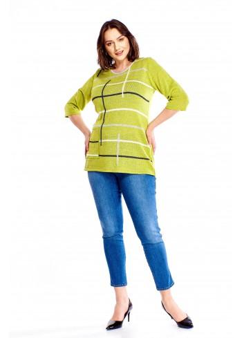 Sweter o drobnym splocie Plus Size