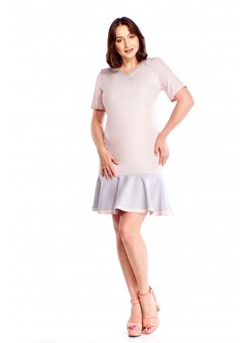 Sukienka z falbaną u dołu Plus Size