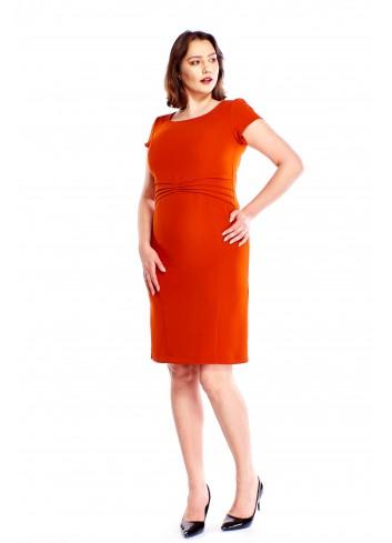 Ołówkowa sukienka z zaszewkami z przodu Plus Size