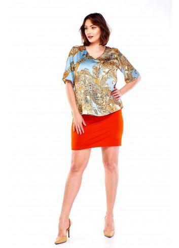 Bluzka w orientalne wzory Plus Size