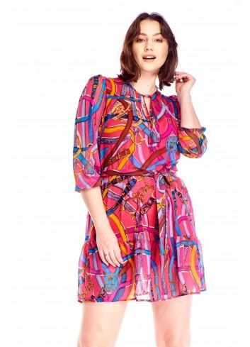 Sukienka w oryginalny wzór Plus Size