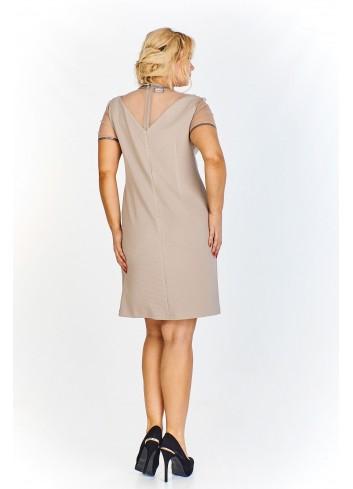 Sukienka do pracy z połyskującym wykończeniem Plus Size