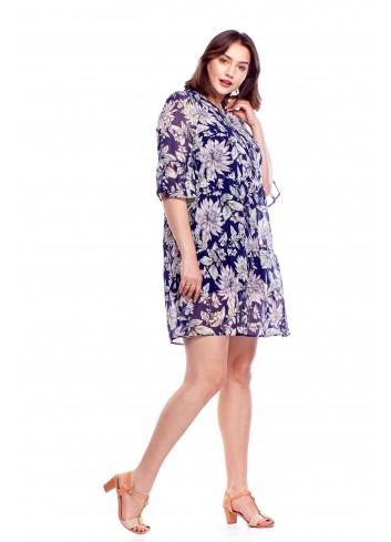Sukienka we wzory Plus Size