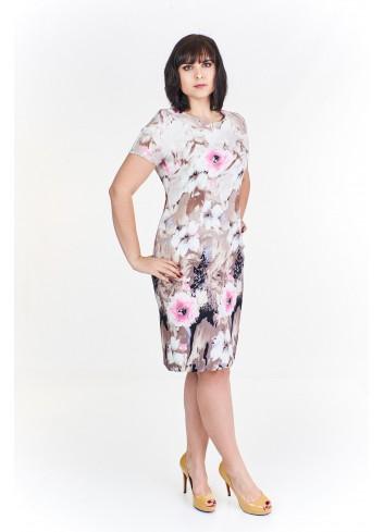 Ołówkowa sukienka w kwiatowy wzór Plus Size