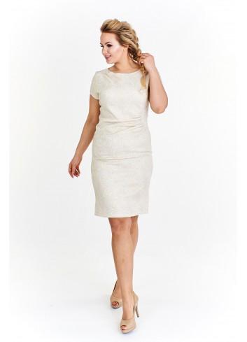 Sukienka z wytłaczanym wzorem Plus Size