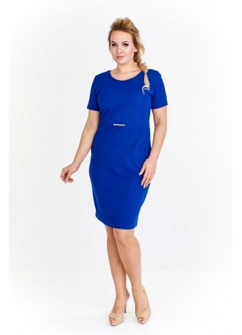 Ołówkowa sukienka z ozdobą w pasie Plus Size