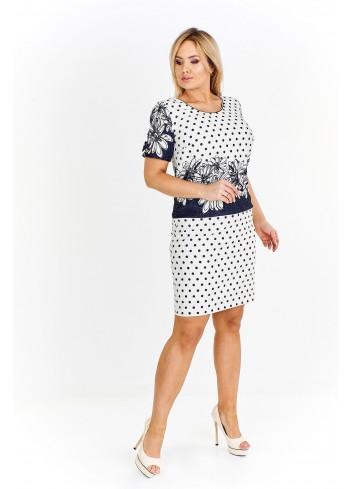 Pudełkowa sukienka z wzorami Plus Size