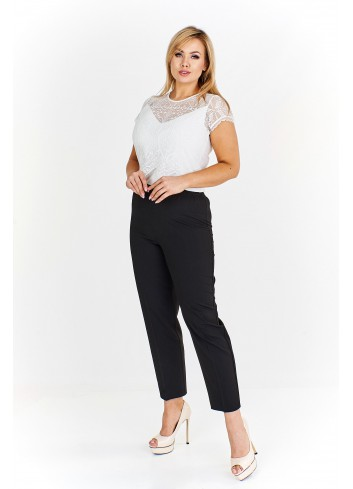 Proste spodnie biznesowe z gumką