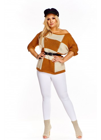 Sweter w kwadraty