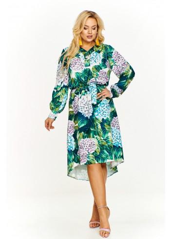 Sukienka w kwiatowy wzór Plus Size
