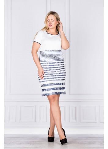 Sukienka taliowana Plus Size