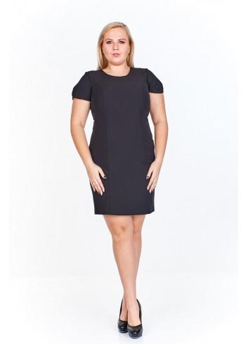 Sukienka mini z ciekawym wzorem na plecach Plus Size