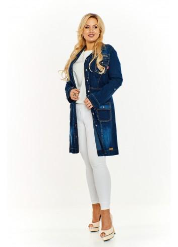 Jeansowy płaszcz