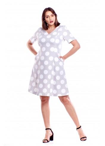 Rozkloszowana sukienka Plus Size