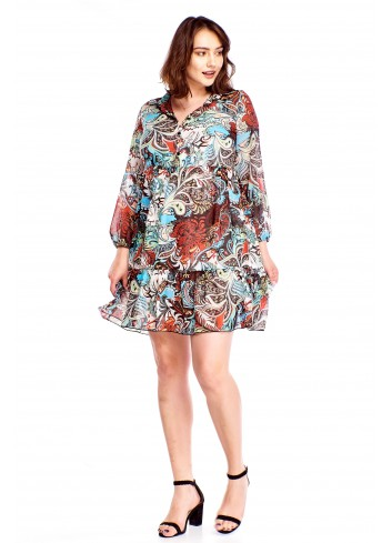 Zwiewna sukienka w kwiaty Plus Size