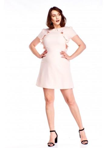 Sukienka z falbankami Plus Size
