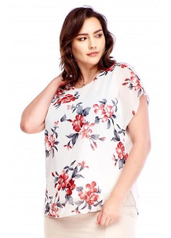 Bluzka w kwiatowy wzór Plus Size