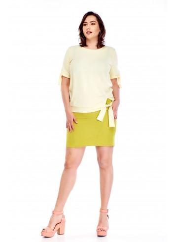 Bluzka z wiązaniami Plus Size