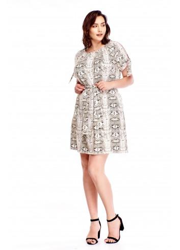 Sukienka z rozciętymi rękawami Plus Size