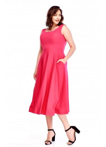 Sukienka midi z kieszeniami Plus Size