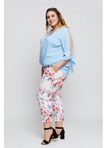 Spodnie w kwiatowy wzór Plus Size