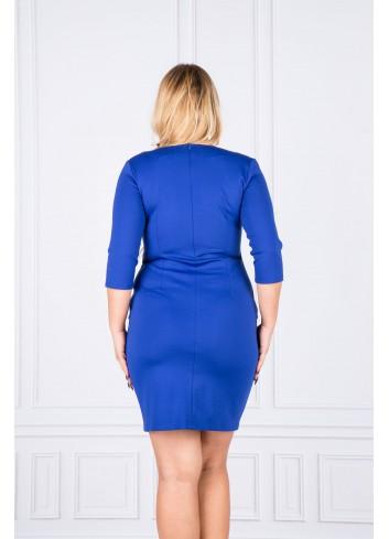 Sukienka dopasowana do pracy i na co dzień Plus Size