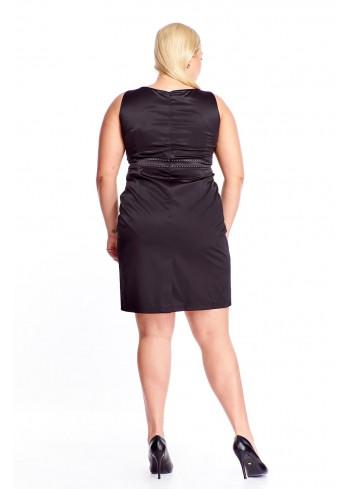 Elegancka sukienka na ramiączkach o ołówkowym kroju Plus Size