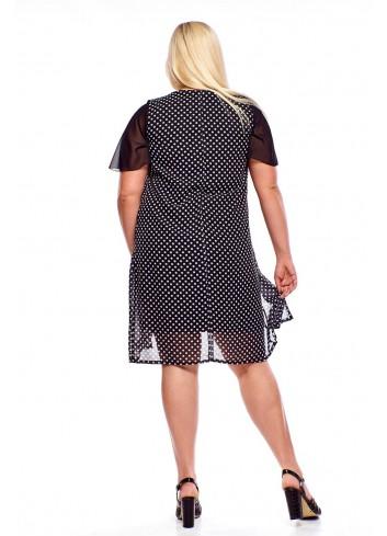 Sukienka ze zwiewną narzutką Plus Size