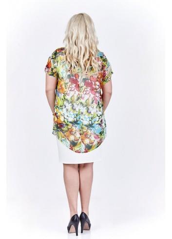 Sukienka z wzorzystą bluzką Plus Size