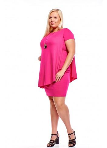 Sukienka z luźną asymetryczną bluzką Plus Size