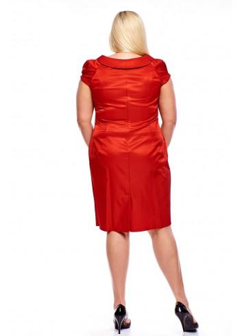 Koktajlowa sukienka z połyskującego materiału Plus Size