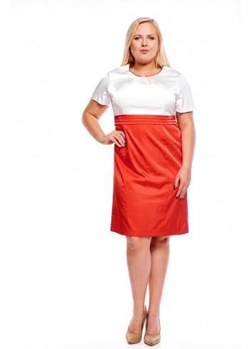 Elegancka sukienka z połyskującym efektem Plus Size