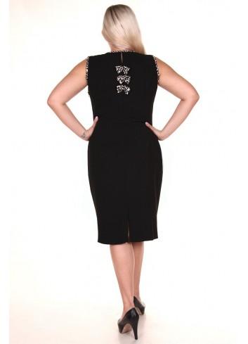 Sukienka o prostym kroju na ramiączkach Plus Size