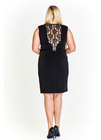 Sukienka o prostym kroju z koronkową wstawką na plecach Plus Size