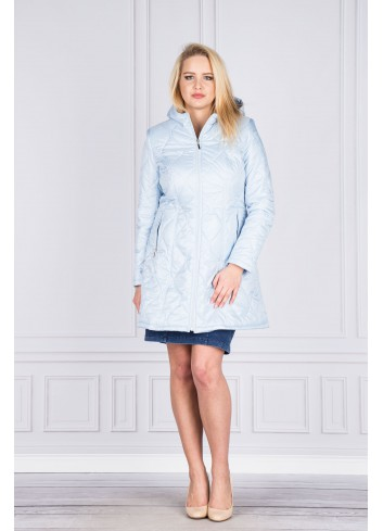 Płaszcz damski pikowany Plus Size