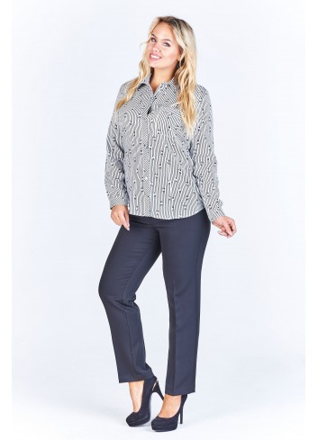 Koszulowa bluzka damska Plus Size