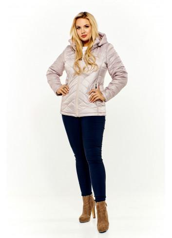 Pikowana kurtka z kapturem Plus Size
