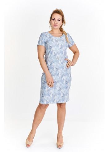Ołówkowa sukienka z rękawkami Plus Size